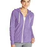 Hanes Women's Full Zip Light Weight Hoodie, Iris Purple, Small