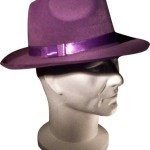 Loftus Fedora Velour Pimp Costume Hat, Purple, One-Size