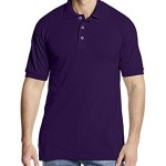 Dickies Men's Short Sleeve Pique Polo, Purple, X-Large