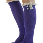 The Original Button Boot Socks with Lace Trim Boutique Socks by Modern Boho Orchid