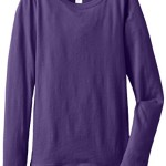 Clementine Big Girls' Everyday Long Sleeve Tee, Purple Rush, Medium (7-8)