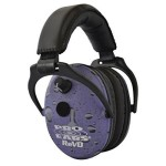 Pro Ears – ReVO – Electronic Hearing Protection and Amplification – NRR 25 – Youth and Women Ear Muffs – Purple Rain