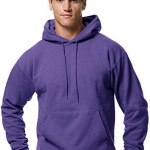 Hanes ComfortBlend EcoSmart Pullover Hoodie Sweatshirt, Purple, Medium