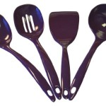 Reston Lloyd Utensil Set, Plum, 4-Pack