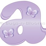 "Wall Letter ""a"" Lavender Purple Butterfly Alphabet Letters Initial Sticker Vinyl Stickers Kid Decals Children Room Decor Baby Nursery Girl Bedroom Decorations Child Names Decal Graphics Butterflies"