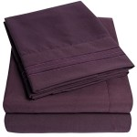 1500 Supreme Collection Bed Sheets – 4 Piece Bed Sheet Set Deep Pocket HIGHEST QUALITY & LOWEST PRICE, SINCE 2012 – Wrinkle Free Hypoallergenic Bedding – All Sizes, 23 Colors – Queen,  Purple