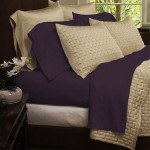 Bamboo Extra Soft Queen Bed Sheet Set – 4pc Set – Deep Pockets – Wrinkle Free (Queen, Eggplant Purple)