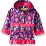 Western Chief Big Girls Lovely Floral Rain Coat, Purple, 5