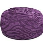 Urban Shop Solid Embossed Zebra Bean Bag, Purple