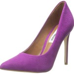 Steve Madden Women's Proto Dress Pump, Purple Nubuck, 8 M US