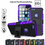 iPhone 6 Plus Case,iPhone 6S Plus Case**HOT**iPhone 6 6s Plus Case [Light Weight] Durable TPU&PC Dual Layer Shockproof Impact Resistant Hard Case Cover with Kickstand for iPhone 6/6S Plus(Purple)