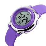USWAT® Children Digital Watch Outdoor Sports Watches Boy Kids Girls LED Alarm Stopwatch Wrist watch Children's Dress Wristwatches Purple