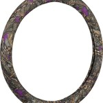 Bell Automotive 22-1-97224-9 Wild Wood Camo Purple Leaf Hyper-Flex Core Steering Wheel Cover