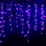 LEMONBEST New 3.5M 96 LED Fairy Lights Curtain Icicle Starry String Lights for Bedroom Christmas New Year Home Garden Wedding (Purple)