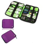 Damai Universal Cable Organizer Electronics Accessories Case USB Drive Shuttle/ Healthcare & Grooming Kit (Purple)