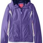 London Fog Big Girls Lightweight Polka Dot Lined Radiance Jacket, Purple, 14/16