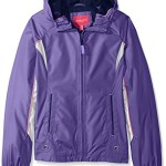London Fog Big Girls Lightweight Polka Dot Lined Radiance Jacket, Purple, 7/8