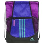 adidas Alliance II Sackpack, Night Flash Purple/Flash Pink/Vivid Mint, 18 x 13.75-Inch