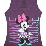 Disney Juniors Minnie Mouse Cute Pose Tank Top (Medium, Purple)