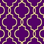 Rubber Backed 20″ x 59″ Moroccan Trellis Purple & Yellow Non-Slip Runner Rug Milano Sweethome Collection Area Rugs 302PR-2X5