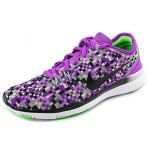 Nike Women's Free 5.0 Tr Fit 5 Prt Vivid Purple/Black/Vltg Green Training Shoe 8 Women US