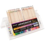 Colore Colored Pencils – Premium Pre-Sharpened Color Pencil Set For Drawing Coloring Pages – FREE Eraser & Sharpener – Great Art School Supplies For Kids & Adults Coloring Books – 60 Colors