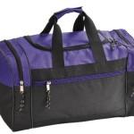 Blank Duffle Bag Duffel Bag in Black and Purple Gym Bag