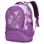 Hynes Eagle Sweetheart Pattern Kids' Backpack (Purple)