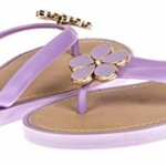 VeeVee Ladies Pcu Flip Flop With Flower Ornament – Lilac, Size 7 / 8 (More Colors and Sizes Available)