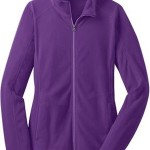 Port Authority L223 Ladies Microfleece Jacket – Amethyst Purple – XL