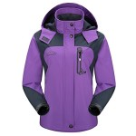 Diamond Candy Sportswear Women's Hooded Softshell Raincoat Waterproof Jacket P 5 S