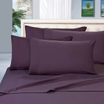 #1 Rated Best Seller Luxurious Bed Sheets Set on Amazon! Elegant Comfort® 1500 Thread Count Wrinkle,Fade and Stain Resistant 4-Piece Bed Sheet set, Deep Pocket, HypoAllergenic – Queen Purple