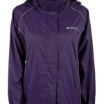 Mountain Warehouse Womens Lightweight Waterproof Rain Jacket Purple 14
