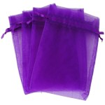 Purple 4×6″ 10x15cm Drawstring Organza Pouch Strong Wedding Favor Gift Candy Bag (Pack of 100pcs)