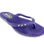 Chatties Ladies Comfort Flip Flops Size 7 / 8 Purple