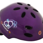 Razor V-17 Child Multi-Sport Helmet, Peace Gloss Purple