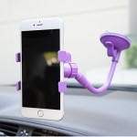 Virtuous * Flexible Clamp Lazy Hands Phone Holder,Universal Gooseneck Mobile Phone Holder Car Mount ,Bed Lazy Bracket (Purple)