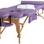 Sierra Comfort All Inclusive Portable Massage Table, Purple