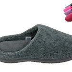 MOXO Women's & Men's Coral Fleece bedroom Slippers /Footwear Memory Foam Clogs(Grey) 9-10 D(M) US