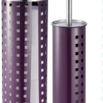 Hopeful Enterprise Toilet Brush and Paper Roll Holder Set with Lid, Purple