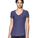Under Armour Women's Perfect Pace Tee, Europa Purple/Reflective, X-Small