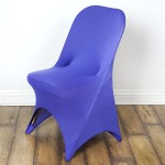 10 pcs Spandex Folding CHAIR COVERS Wedding Supplies – Purple