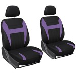 Oxgord Flat Cloth Bucket Seat Cover Set for Car/Truck/Van/SUV, Purple & Black