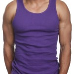 ToBeInStyle Men's A-Shirt Tank Top Muscle Shirt – Large – Purple