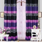 Mk Collection 2 Panel Curtains Teens/girls Zebra Leopard Purple Pink White Black