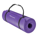 Reehut All-Purpose 1/2-Inch Extra Thick High Density NBR Exercise Yoga Mat with Carry Strap for Gymnastic Fitness Purple