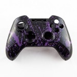 Purple Splatter on Black Custom Controller Shell for Xbox One