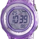 Armitron Sport Women's 45/7051PUR Digital Light Purple Clear Jelly Strap Watch