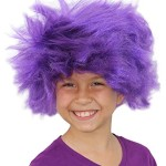 Troll Wig Purple Minion Costume For Kids Or Adults Purple Minion Wig Afro Purple