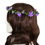 Polytree Women's Fashion Boho Flower Headband Hairband (Purple)